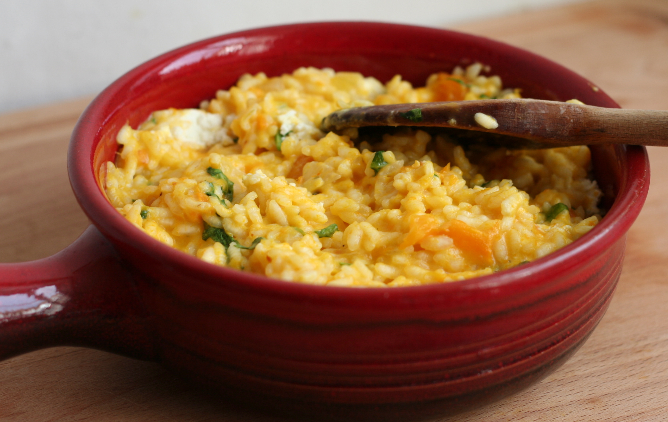 pumpkin, goat's cheese, cheese, risotto, food, talking about food again, food blog, rice,